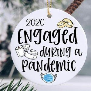 Christmas engaged pandemic ornament